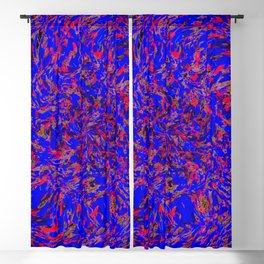 whirlwind blue and red Blackout Curtain