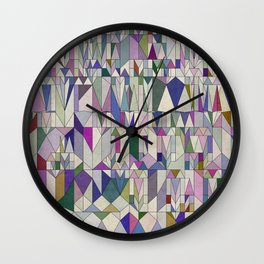 Architecture in Pink Wall Clock