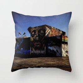 Culver City Graffiti Throw Pillow