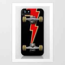 Iskate Skateboard deck case Lightning bolt Art Print
