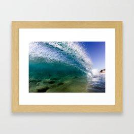 Cyan Cylinder Framed Art Print