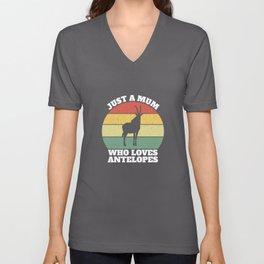 Just A Mum Who Loves Antelopes Unisex V-Neck