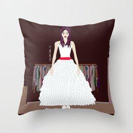 New Dress Throw Pillow
