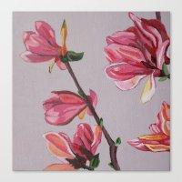 magnolia Canvas Prints featuring Magnolia by Marjolein