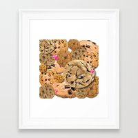 cookies Framed Art Prints featuring Cookies by jajoão
