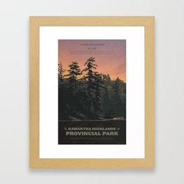 Kawartha Highlands Provincial Park Framed Art Print