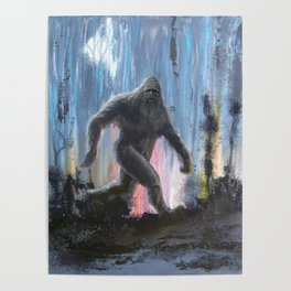 Bigfoot by Moonlight Poster