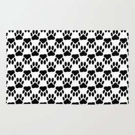 Up And Down Dog Paws Rug