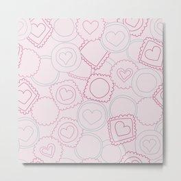 Light pink sweet love cookies Metal Print