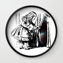 Alice Discovers the Universe Wall Clock