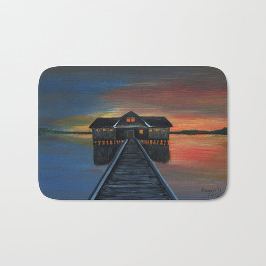 Old boat house  Bath Mat