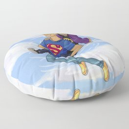 Flying Around Jason and Nico Floor Pillow
