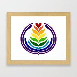 Rainbow 10 Stack Framed Art Print