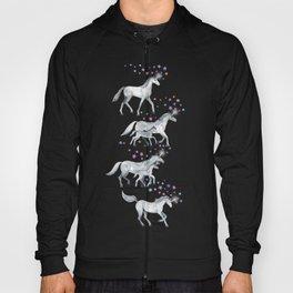 Unicorns and Stars on Dark Teal Hoody