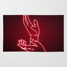 Red Neon Meanwhile Rug