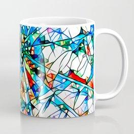 Glass stain mosaic 2 star - by Brian Vegas Coffee Mug
