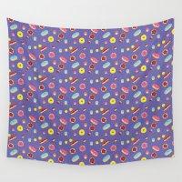 doughnut Wall Tapestries featuring Doughnut Pattern by Diana Willett