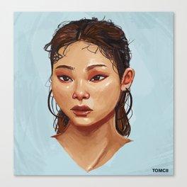 Red Eyes Portrait Canvas Print