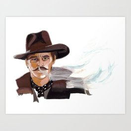 "Tombstone (Film, 1993) Doc Holliday ""I'm Your Huckleberry"" Art Print"