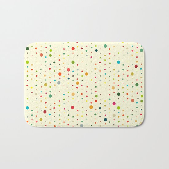 retro rain spots cream Bath Mat