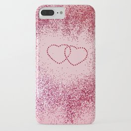In Love Sparkling Glitter Hearts #2 #red #decor #art #society6 iPhone Case