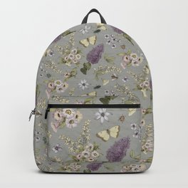 spring flowers with butterfly and beetles I Backpack