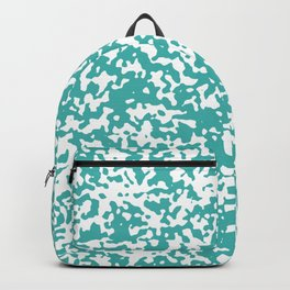 Small Spots - White and Verdigris Backpack