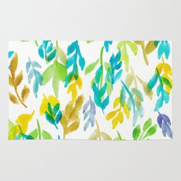 180726 Abstract Leaves Botanical 4 |Botanical Illustrations Rug