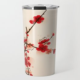 Oriental plum blossom in spring 007 Travel Mug