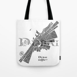 Dubai Map Tote Bag