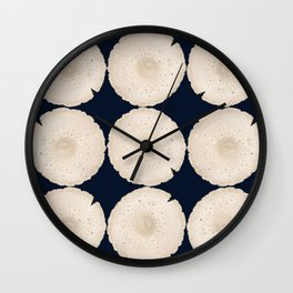 Modern Mushroom Navy Wall Clock