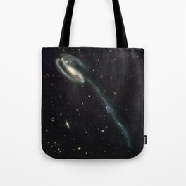 """Tadpole"" Colliding Galaxy Society6 Planet Prints Tote Bag"