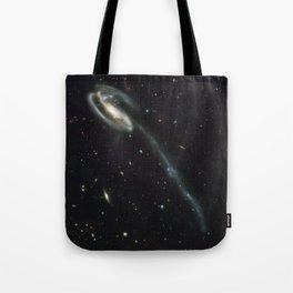 """Tadpole"" Colliding Galaxy Society6 Planet Prints Tote Bag"