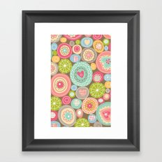 Fun Circles Framed Art Print