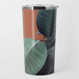 Ficus Elastica #17 #AutumnLeaf #foliage #decor #art #society6 Travel Mug