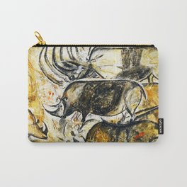 Panel of Rhinos // Chauvet Cave Carry-All Pouch