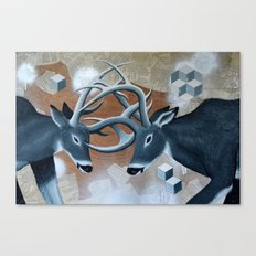 Deer Cubed Canvas Print