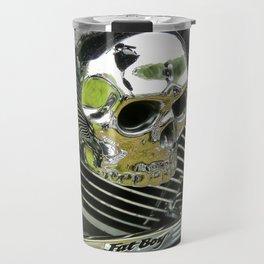 Motorcycle Skull Travel Mug