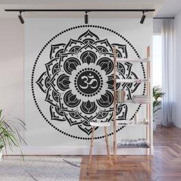 Black and White Mandala   Flower Mandhala Wall Mural