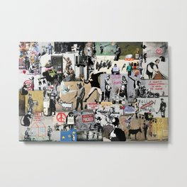 Banksy Collage Metal Print