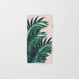 Palm Leaves Tropical Blush Vibes #1 #tropical #decor #art #society6 Hand & Bath Towel