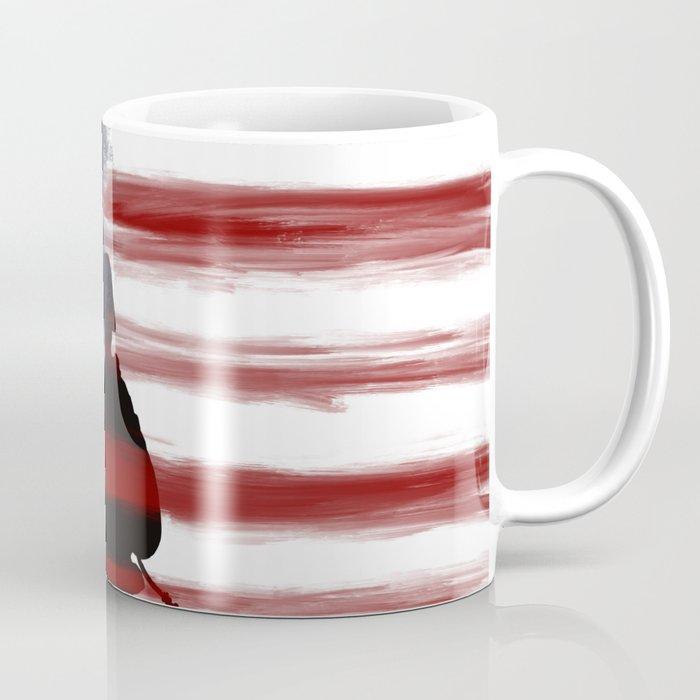 Soldier and Flag - Patriotic Coffee Mug