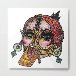 Clamp Vamp Metal Print