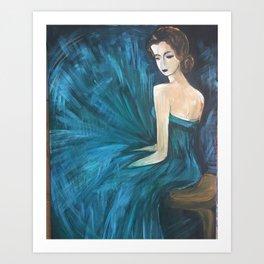 The Blue Ballerina Art Print