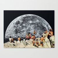 moonrise Canvas Prints featuring MOONRISE  by Beth Hoeckel