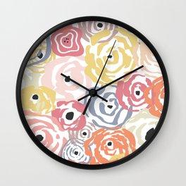 Colorful Flower Bundle Wall Clock