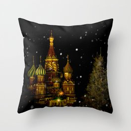 Moscow Night Throw Pillow