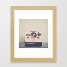 a portrait of a vintage camera Framed Art Print