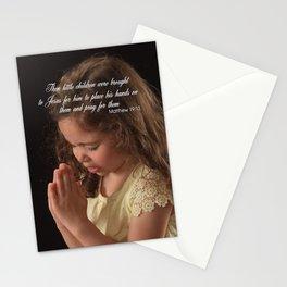 Matthew 19:13 Stationery Cards