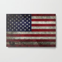 USA flag - in Super Grunge Metal Print